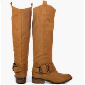 Steve Madden Bankker leather knee high brown boots